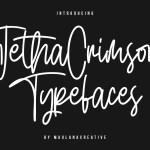 Jetha Crimson Script Font