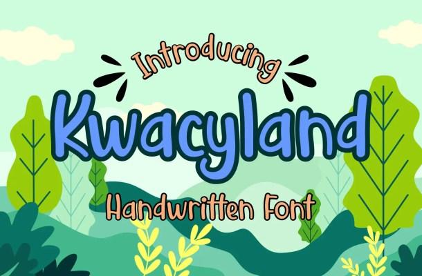 Kwacyland Script Font
