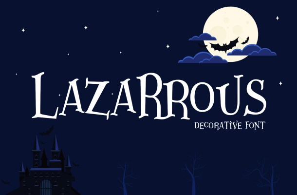 Lazarrous Display Font