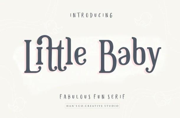 Little Baby Serif Font