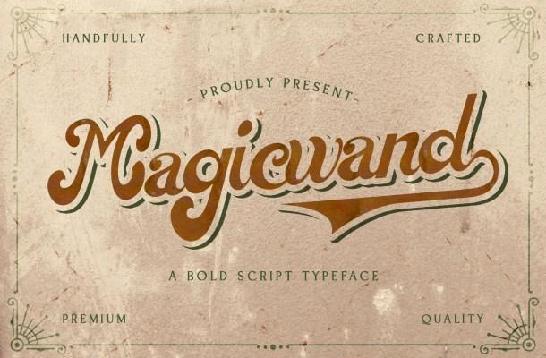 Magic Wand Bold Script Font