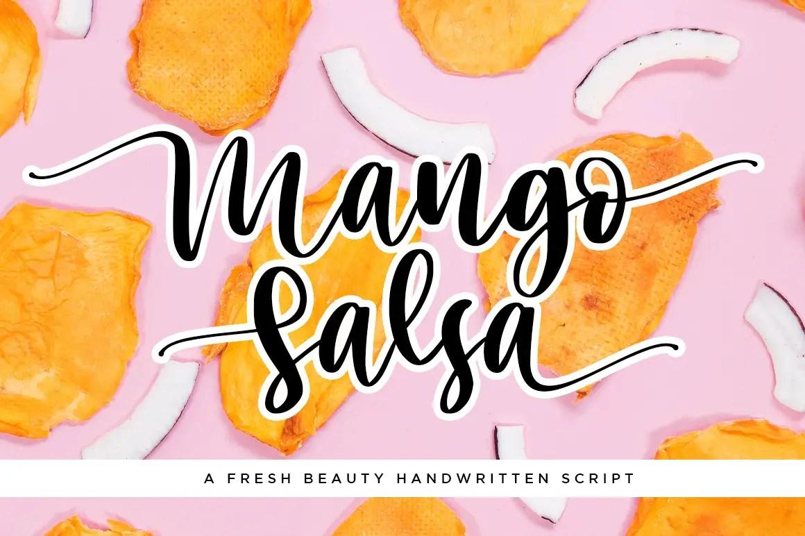 Mango Salsa Handwritten Script Font-1