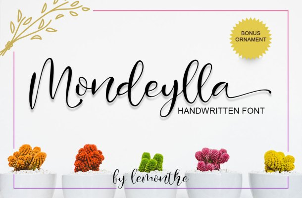 Mondeylla Script calligraphy Font