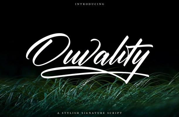 Ouvality Handwritten Font
