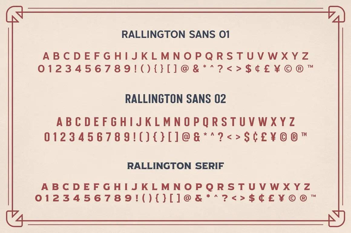Rallington Calligraphy Font-3