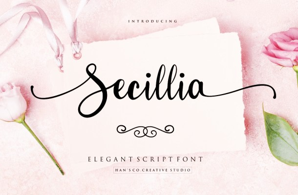 Secillia Script Calligraphy Font