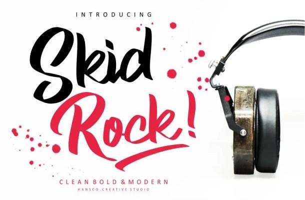 Skid Rock Script Font