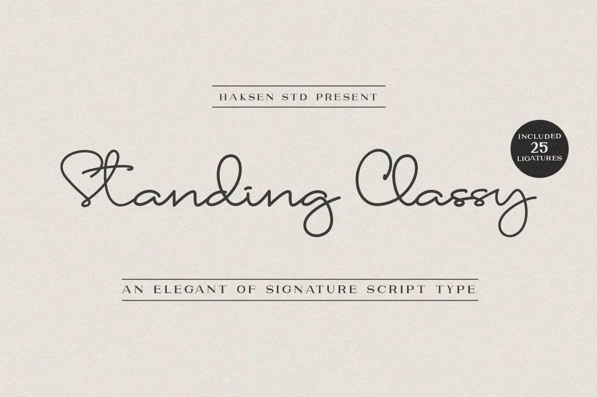 Standing Classy Handwritten Font-1
