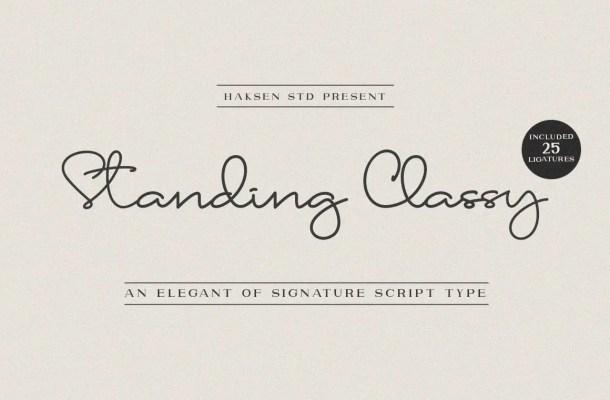 Standing Classy Handwritten Font