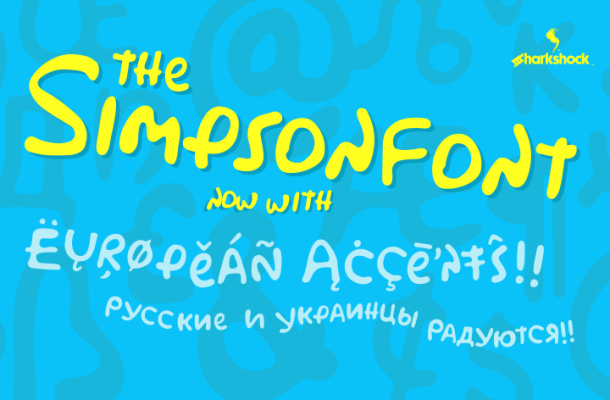 Simpsonfont Display Font