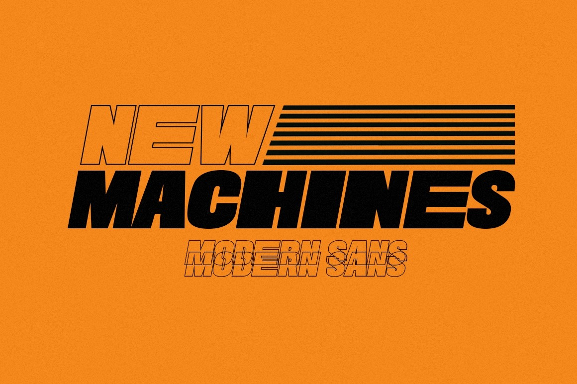 New Machines Modern Sans Serif Font-1