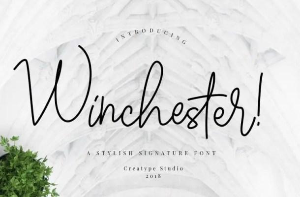 Winchester Signature Script Font