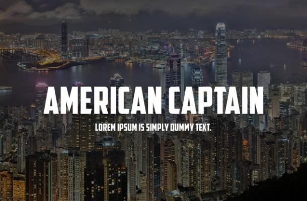 American Captain Font Free