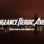 Avengeance Heroic Avenger Font Family