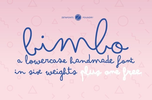 Bimbo Family Fonts