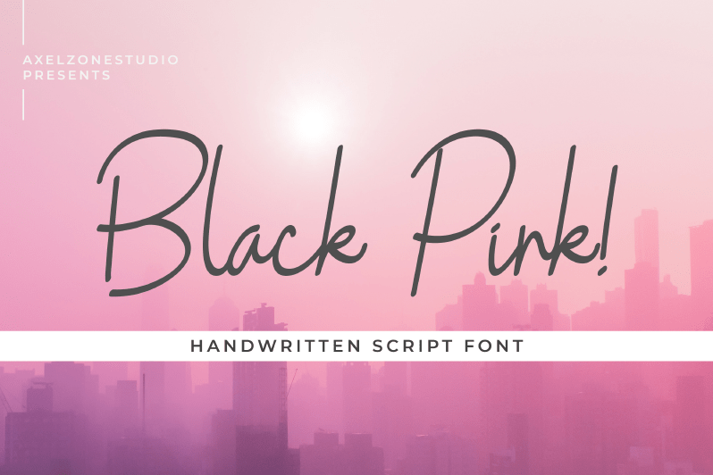Black Pink Handwritten Font01