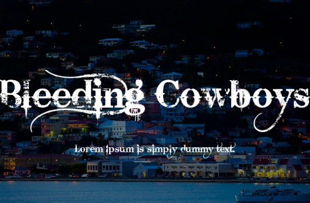 Bleeding Cowboys Font