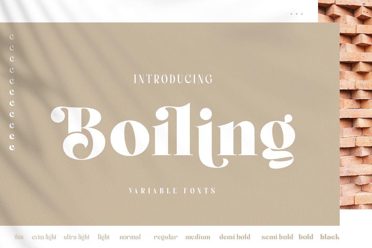 Boiling Variable Serif Font-1
