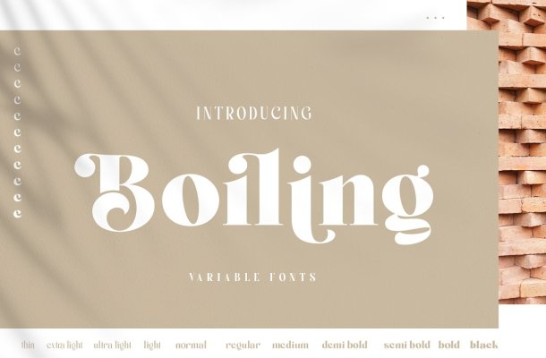 Boiling Variable Serif Font