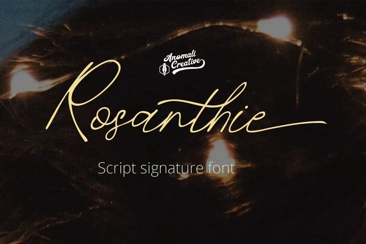 Rosanthie Script Font-1