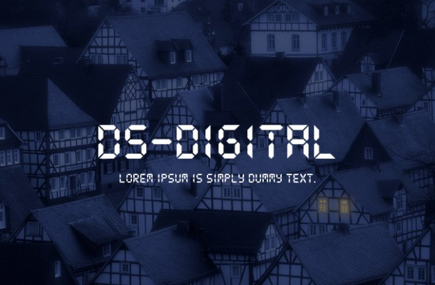 DS Digital Font Family
