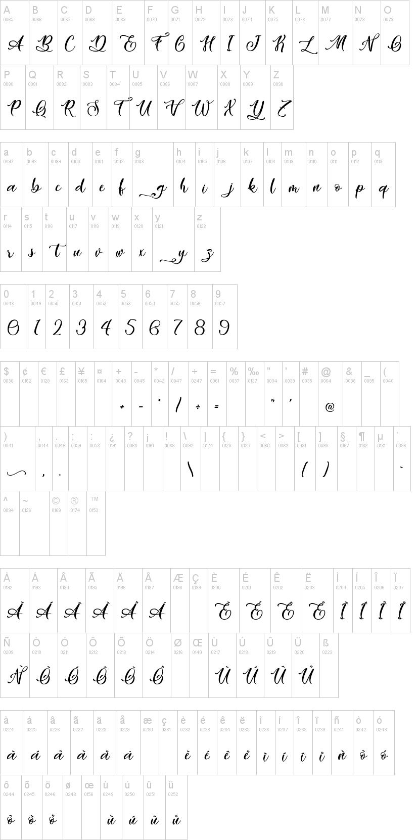 Easy November font02