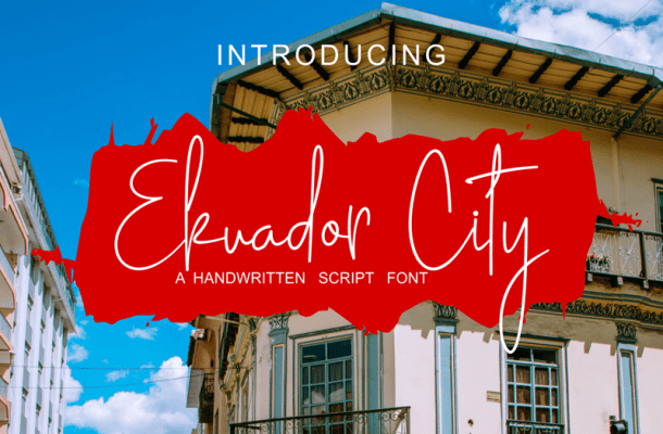 Ekuador City Handwritten Font