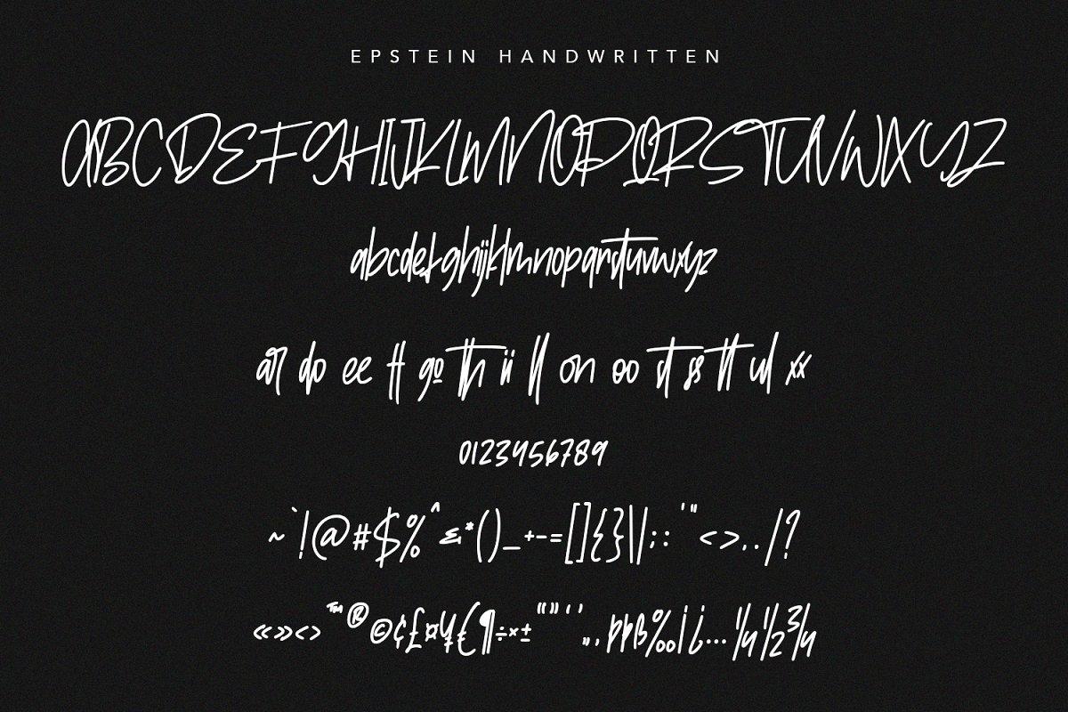 epstein-signature-handwritten-handmade-font-7-