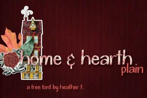 Home & Hearth Script Font