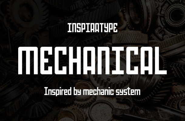 Mechanical Sans Serif Font