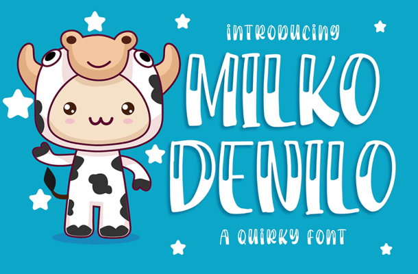 Milko Denilo Display Font