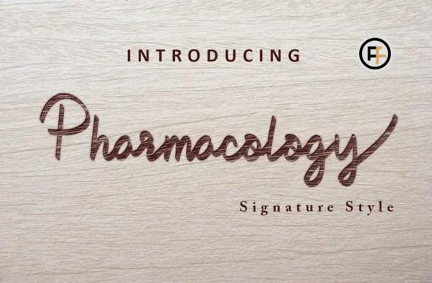 Pharmacology Script Font