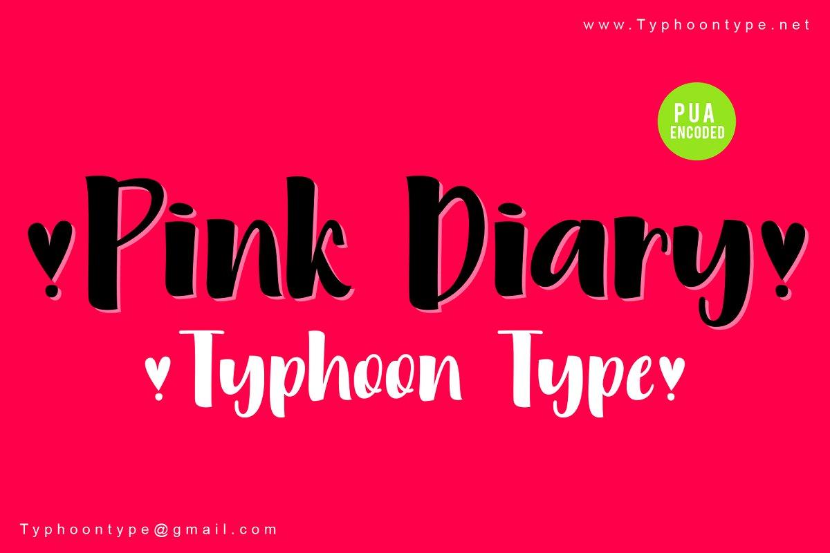 Pink Diary Handwritten Font-1