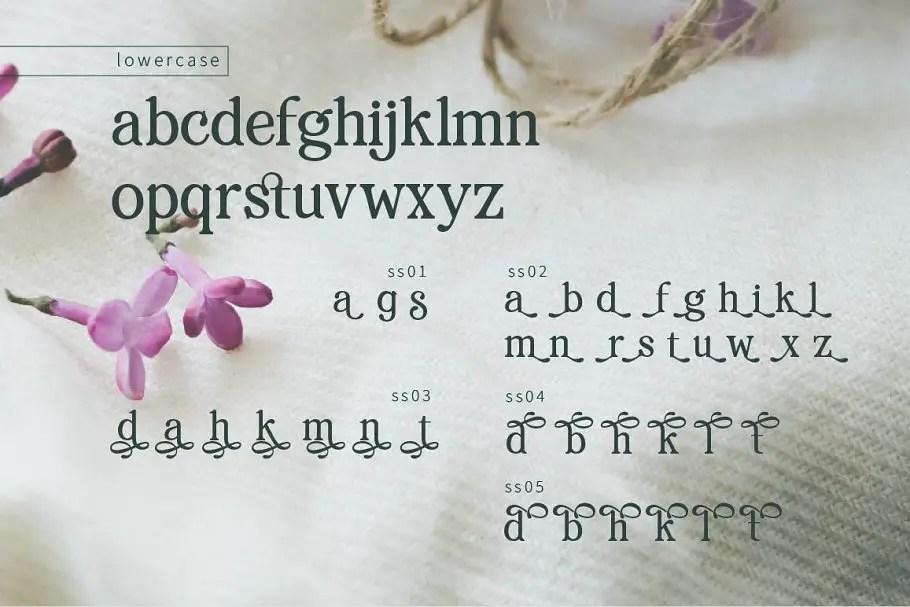 pRenda Bold Modern Serif Font04