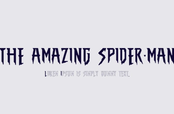 The Amazing Spider Man Font
