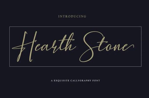 Hearth Stone Script Font