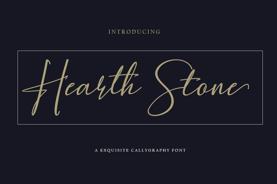 Hearth Stone Script Font01