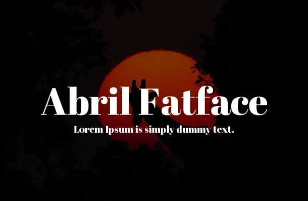 Abril Fatface Serif Font