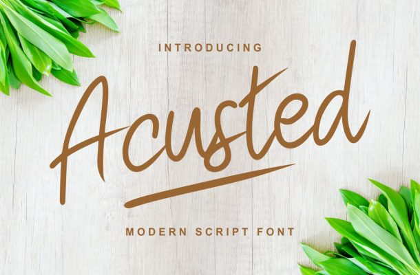 Acusted Modern Script Font