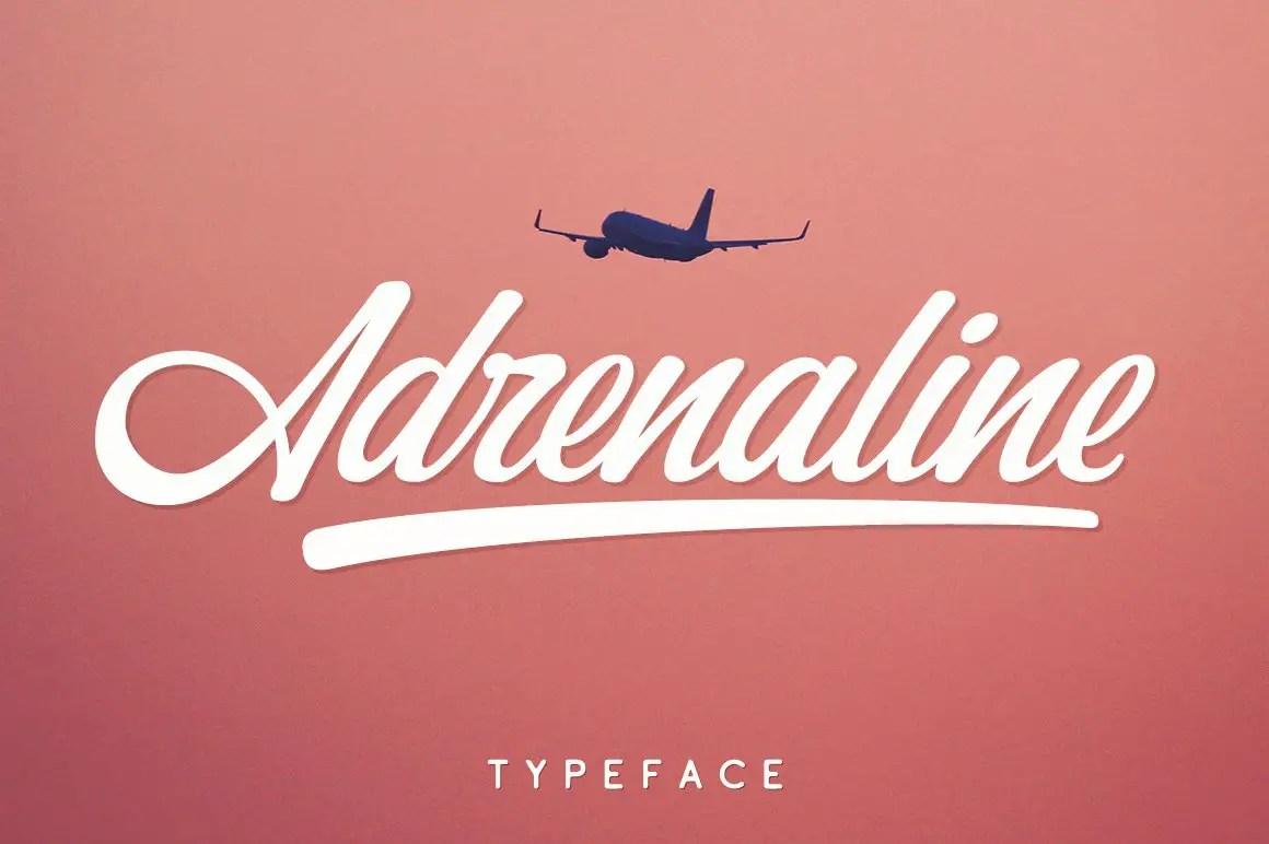 Adrenaline Script Typeface-1
