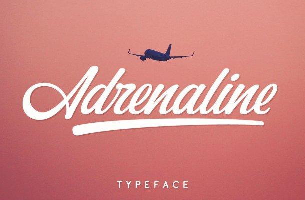 Adrenaline Script Typeface