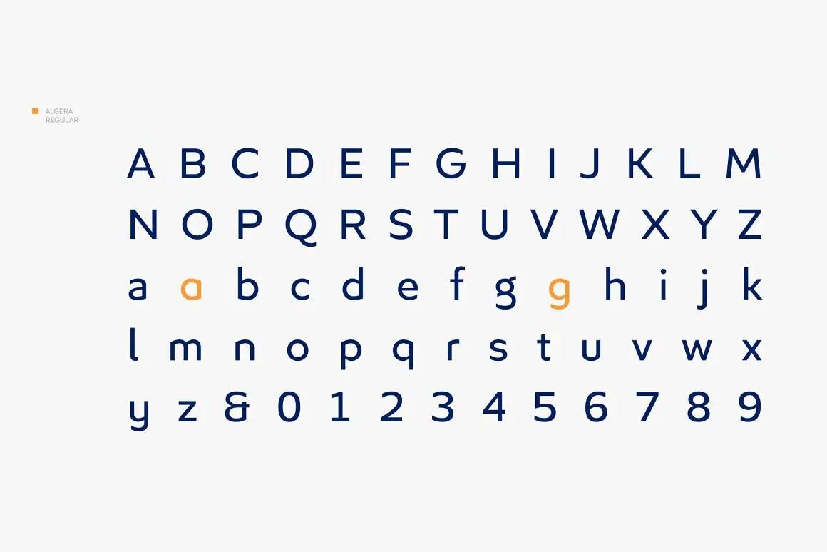 Algera Spurless Sans Serif Font-3