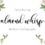 Almond Whisp Modern Calligraphy Font