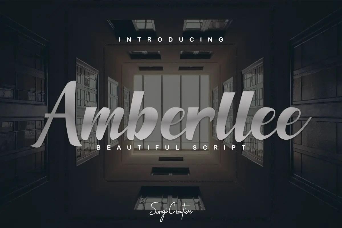Amberllee Handwritten Script Font-1 (1)