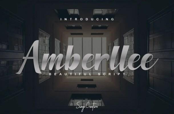Amberllee Handwritten Script Font