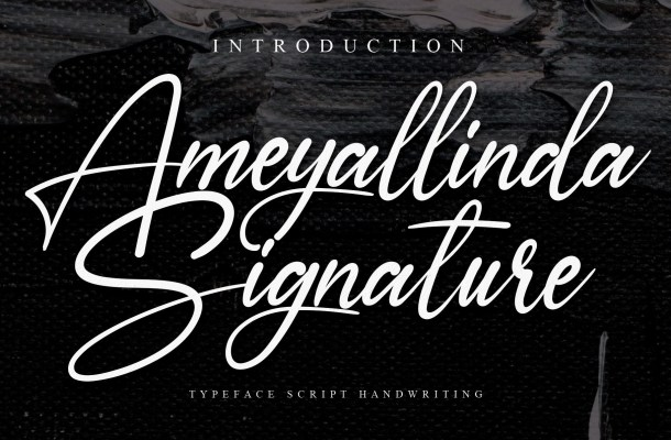 Ameyallinda Signature Handwritten Typeface