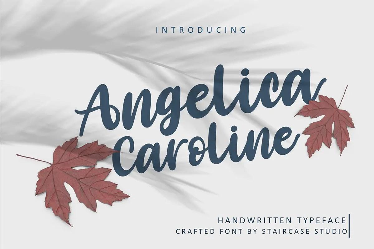 Angelica Caroline Handwritten Typeface-1