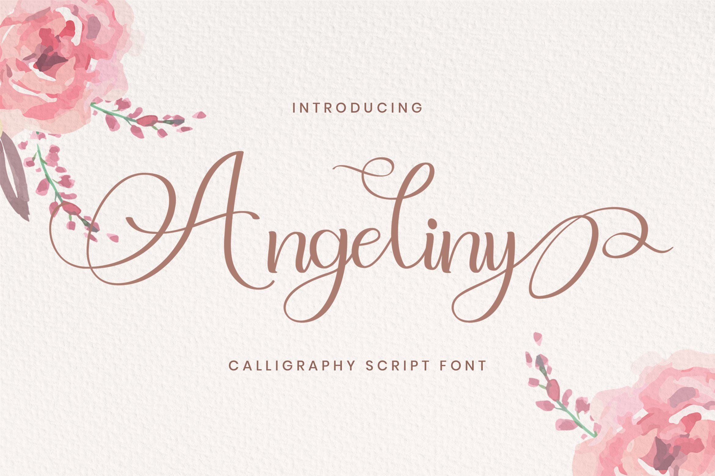 Angeliny Calligraphy Script Font-1