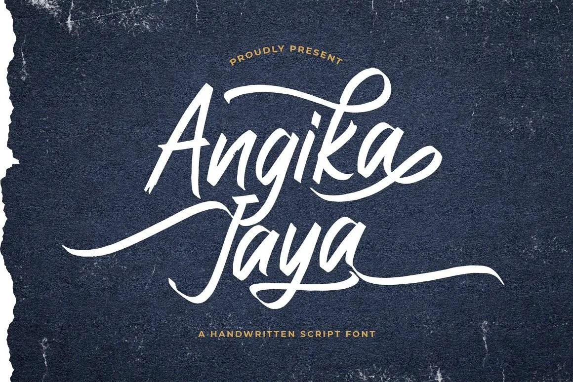 Angika Jaya Handwritten Script Font-1
