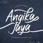 Angika Jaya Handwritten Script Font